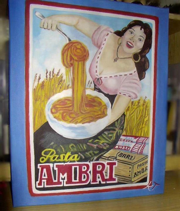 Pasta, ma non basta! - Vintage paintings by Kaytee