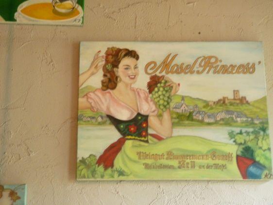 Mosel-Prinzess - Vintage paintings by Kaytee