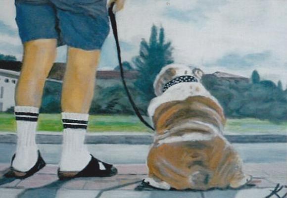 Like Master, like dog - Vintage paintings by Kaytee
