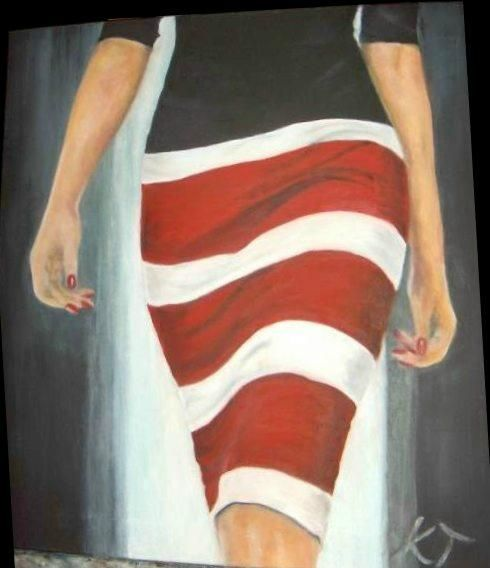 Star and stripes - Vintage paintings by Kaytee
