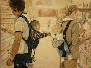 Hey, baby! - Vintage paintings by Kaytee