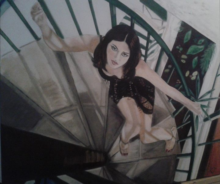 Comming upstairs - Vintage paintings by Kaytee