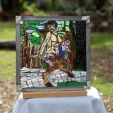 Stained glass on glass mosaic