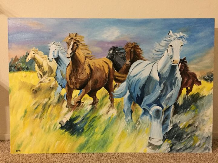Happy Horses - Aruna Art