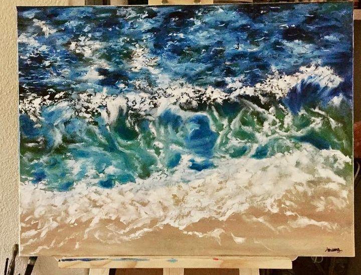 Waves Oil Painting - Aruna Art