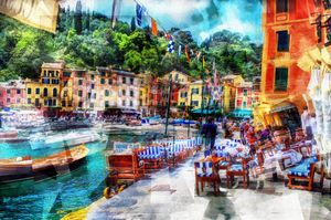 Seaside town (Portofino) - Karl J. Struss