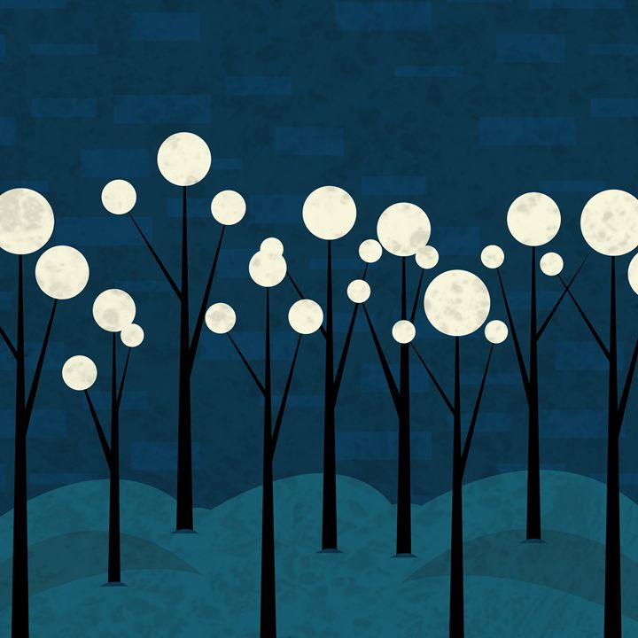 Moon Forest - Photography & Illustration by Iveta
