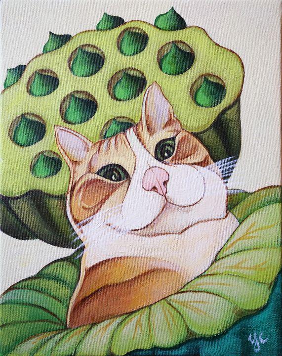 a cat in lotus - Le coin de Yingchi
