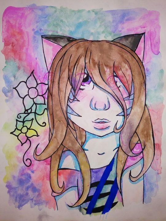 Neko girl - Melodys Arts