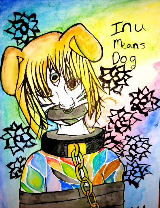 Inu means Dog - Melodys Arts