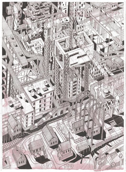 Devouring city - ArtKrasnov
