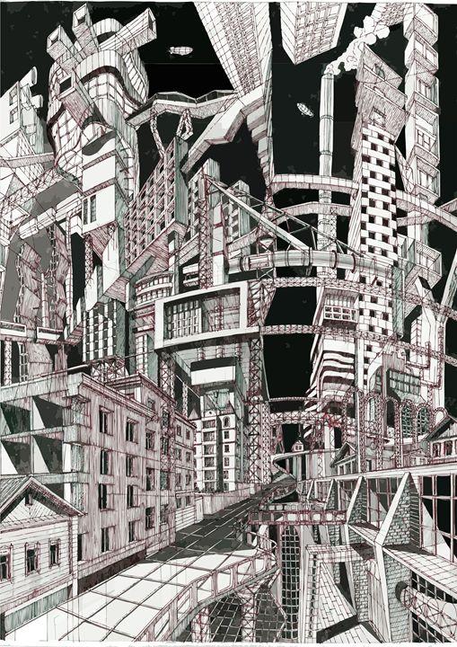 City in the night - ArtKrasnov