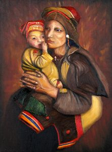 BALTI MOTHER AND CHILD