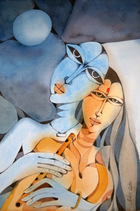 Internal Love - watercolor Gallery sudip datta