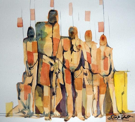 Abstract 002 - watercolor Gallery sudip datta