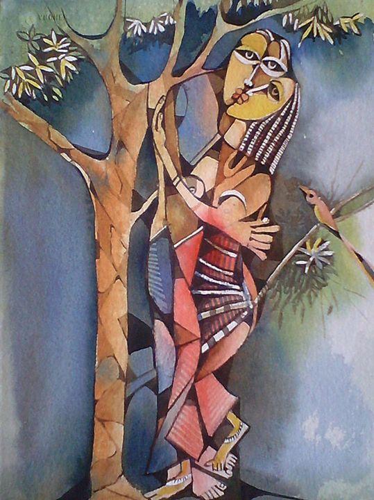Love - watercolor Gallery sudip datta