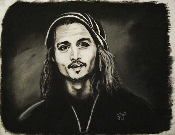 Johnny Depp - Mad Coffee Art