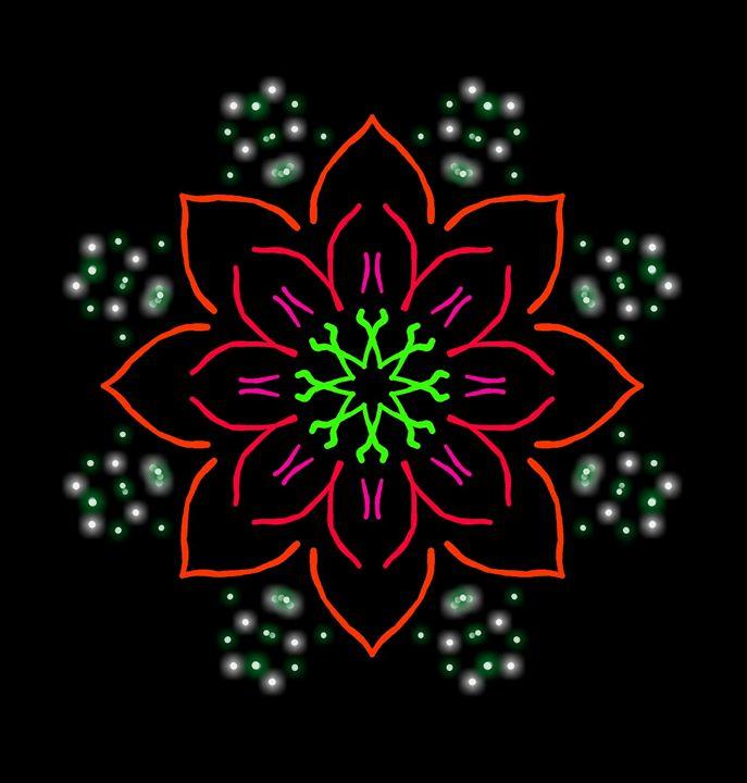 Poinsettia - Neon Dragon