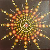 Mandala peint sur toile toile