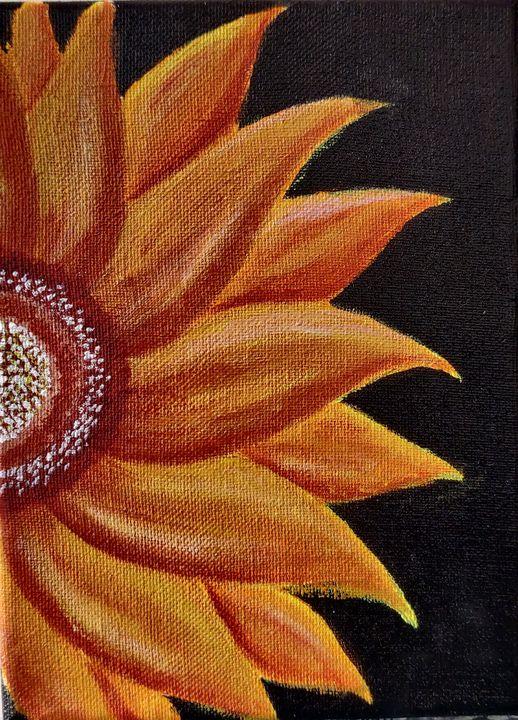 Beautiful handmade sunflower - Creative_paintings