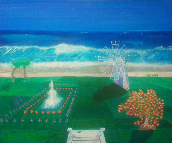 Ocean View From The Staircase - Mary Lou Constantine