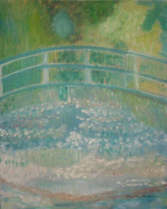 Water Lillies Under The Bridge - Mary Lou Constantine