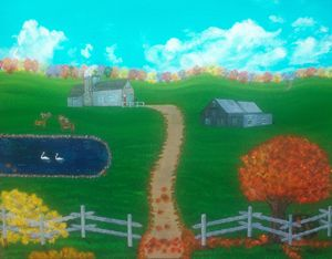 Hidden Hills Farm In Autumn
