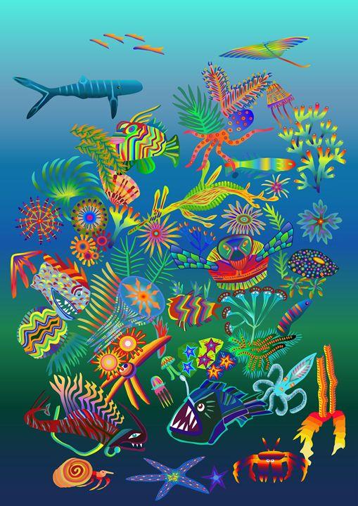 Oceanic Harmony - sarahlizwalkerkiwiartistNZ