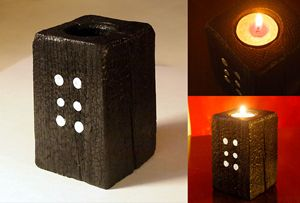 "Decorative candle holder – ""Domino"" - ZHEKO"