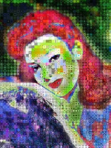 Linda Darnell abstract Collage - BluefishGallery