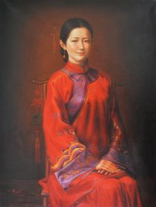 Oil chinese girl#10