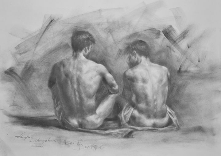 DRAWING MALE NUDE MEN #14 - hongtao-art studio