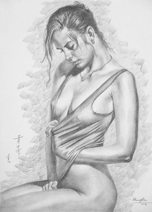 DRAWING SXEY GIRL #20 - Hongtao-Art Studio