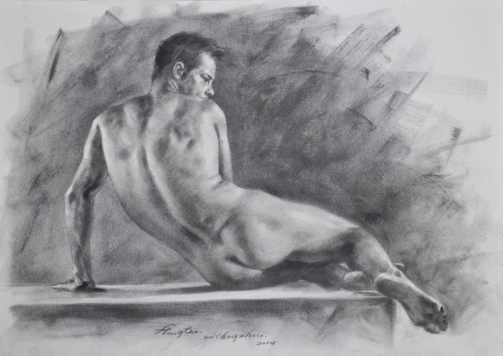 Drawing male nude #7 - hongtao-art studio