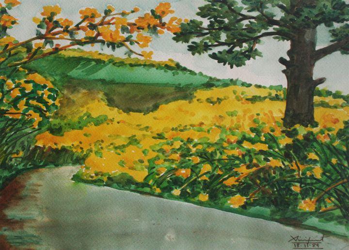 Watercolor Landscape-025 - SiriputArts