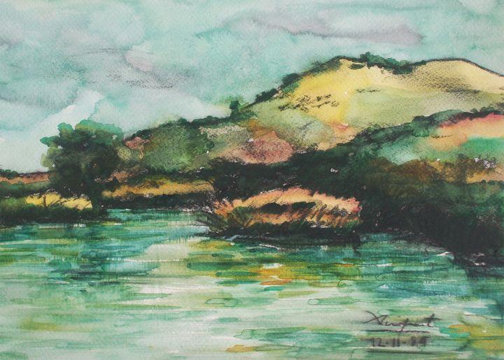 Watercolor Landscape-031 - SiriputArts