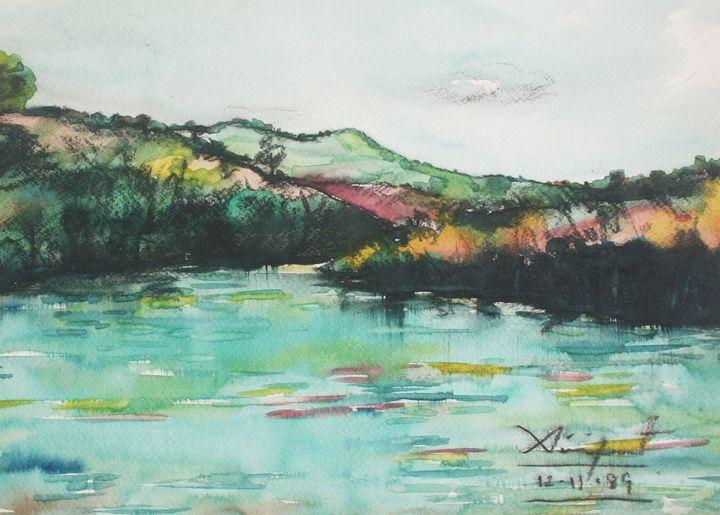 Watercolor Landscape-032 - SiriputArts