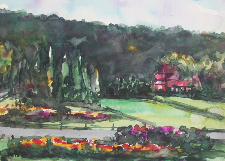 Watercolor Landscape-022 - SiriputArts