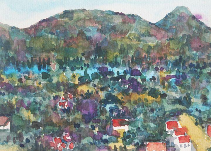 Watercolor Landscape-059 - SiriputArts