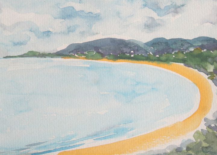 Watercolor Landscape-060 - SiriputArts