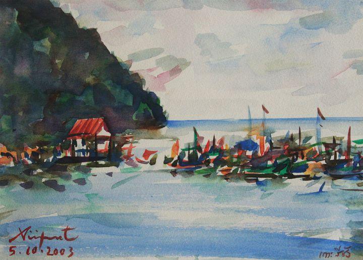 Watercolor Landscape-078 - SiriputArts