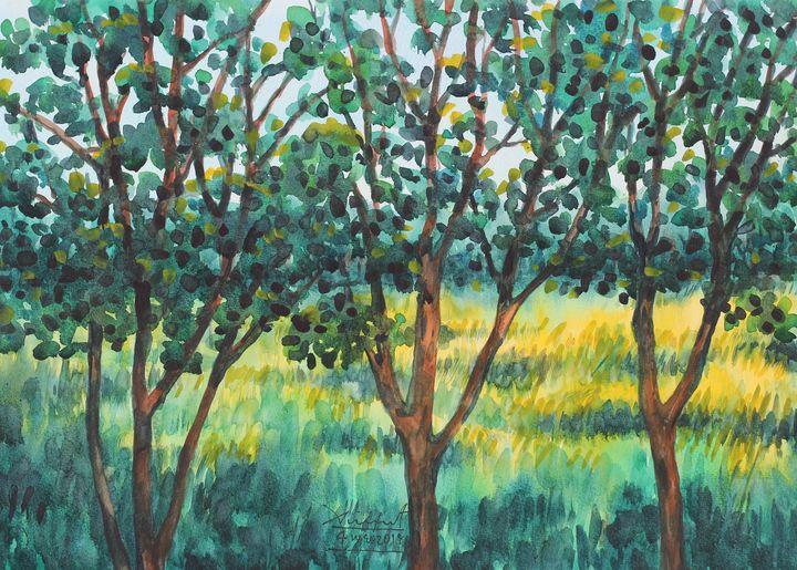 Watercolor Landscape-110 - SiriputArts