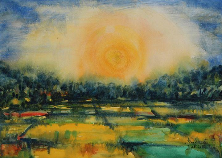 Watercolor Landscape-117 - SiriputArts