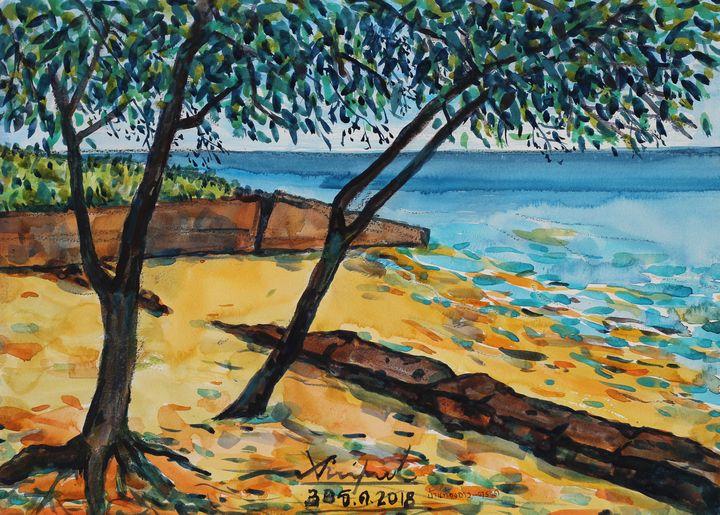 Watercolor Landscape-130 - SiriputArts