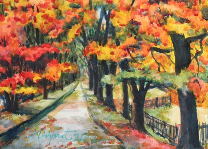 Watercolor Landscape-040 - SiriputArts