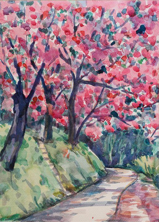 Watercolor Landscape-142 - SiriputArts
