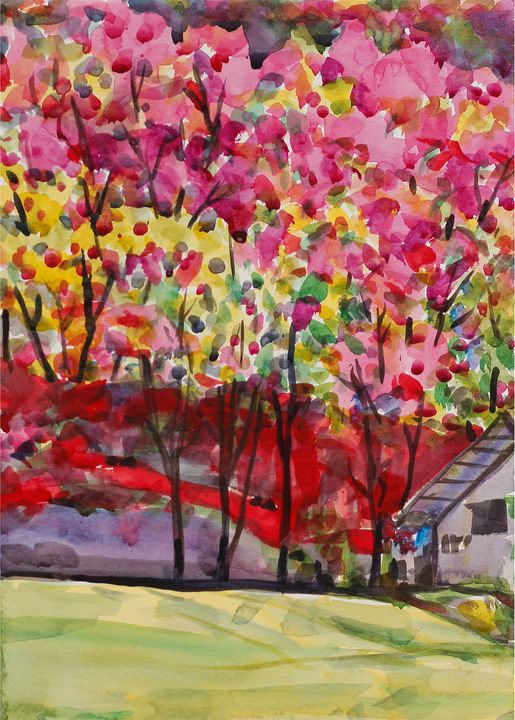 Watercolor Landscape-152 - SiriputArts