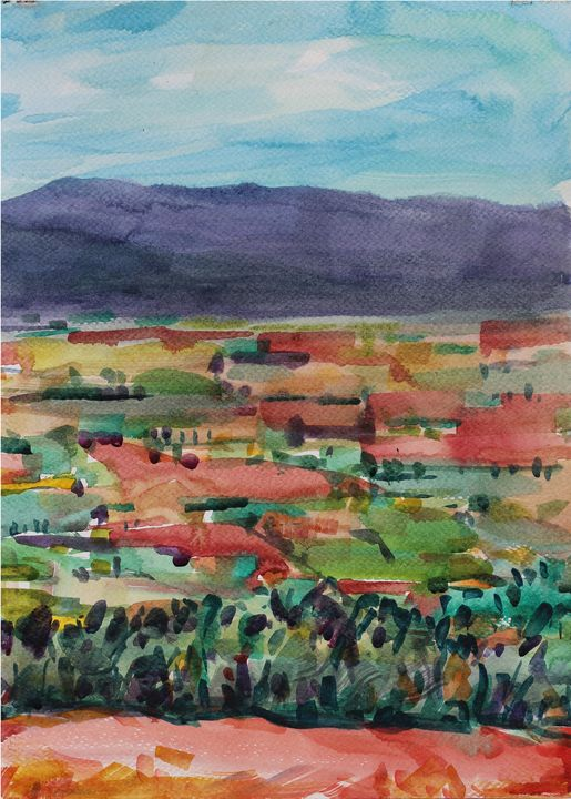 Watercolor Landscape-161 - SiriputArts