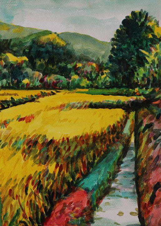Watercolor Landscape-165 - SiriputArts