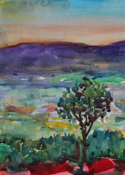 Watercolor Landscape-176 - SiriputArts